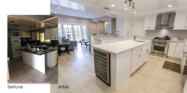 before after remodel